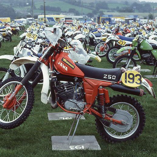 1983 ISDT motorbike