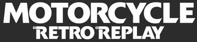 Motorcycle Retro Replay logo in black and white