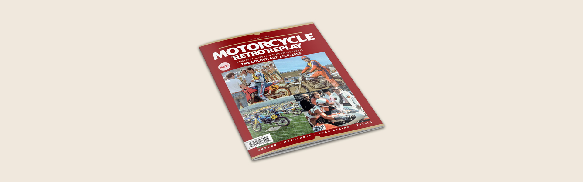 motorcycle retro replay magazine cover page banner